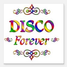 "Disco Forever Square Car Magnet 3"" x 3"""