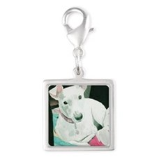 note Silver Square Charm