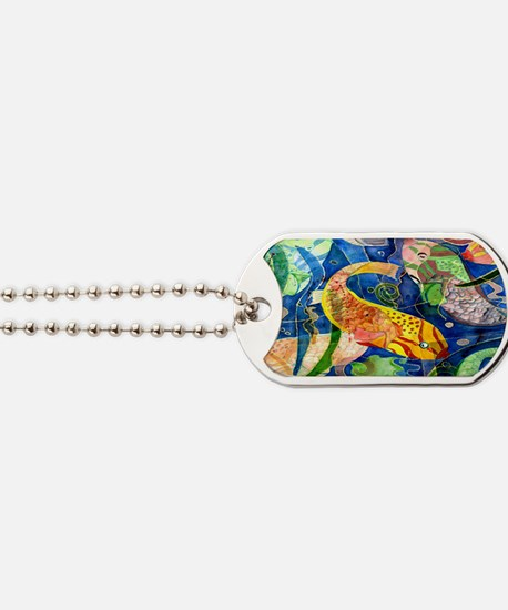 Tropical Fish art Dog Tags