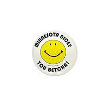 Minnesota Nice Smiley Mini Button