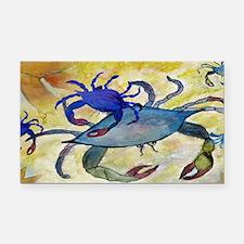 Sandy Crab art Rectangle Car Magnet