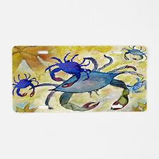 Sandy Crab art Aluminum License Plate