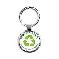 Minnesota Nice Renewable Round Keychain