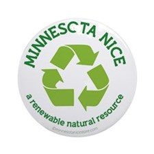 Minnesota Nice Renewable Round Ornament