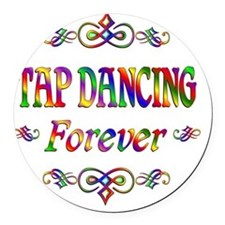 Tap Dancing Forever Round Car Magnet