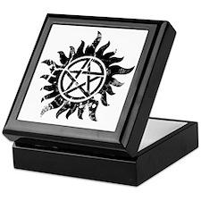 Cracked Anti-Possession Symbol Black Keepsake Box
