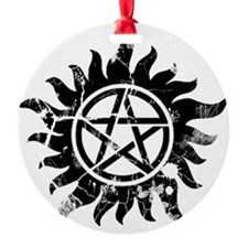 Cracked Anti-Possession Symbol Blac Ornament