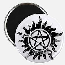 Cracked Anti-Possession Symbol Black Magnet