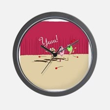 pizza n pals plate2 Wall Clock