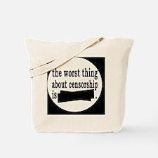 censorshipbutton Tote Bag