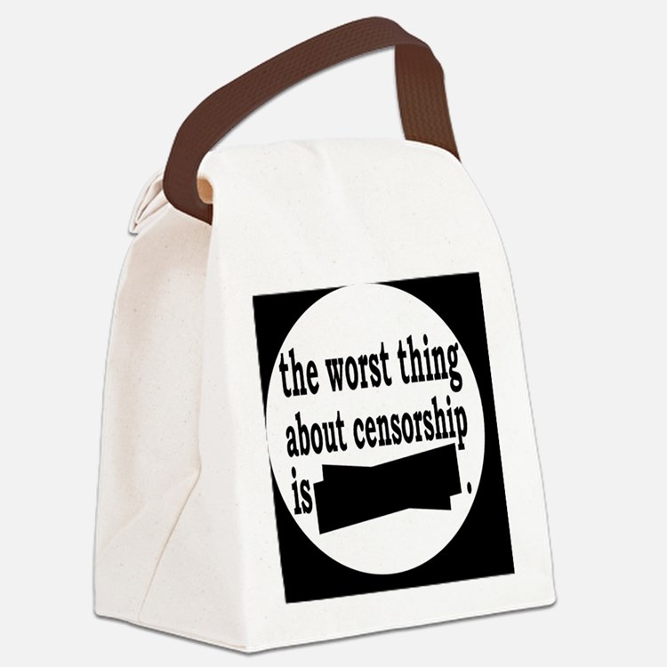 censorshipbutton Canvas Lunch Bag