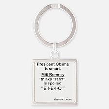 E-I-E-I-O Square Keychain