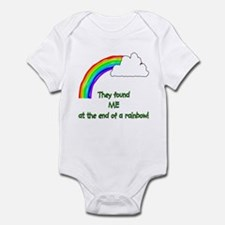 """""""found ME at the end of the rainbow Infant Creeper"""