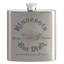 Minnesota Nice Hot Dish blue Flask