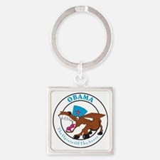 Opiate Of The Asses Square Keychain