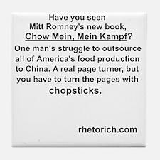 Chow Mein Kampf Tile Coaster