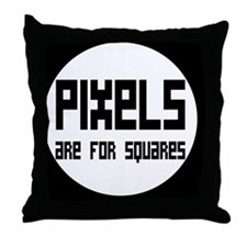 pixelsbutton Throw Pillow