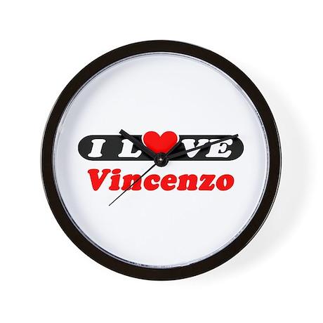I Love Vincenzo Wall Clock