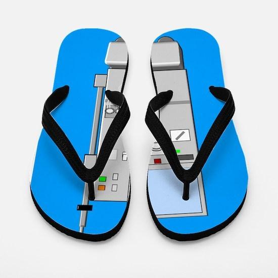 dialysis machine CP blue Flip Flops