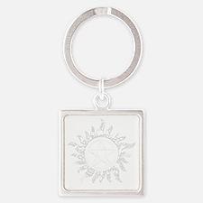 Cracked Anti-Possession Symbol Lig Square Keychain