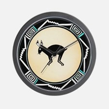 MIMBRES BLACK JACK RABBIT BOWL Wall Clock