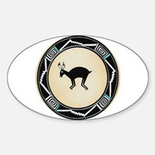 MIMBRES BLACK JACK RABBIT BOWL Oval Decal