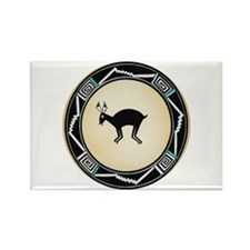 MIMBRES BLACK JACK RABBIT BOWL Rectangle Magnet