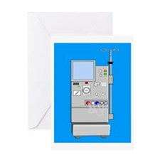 dialysis machine CP blue Greeting Card