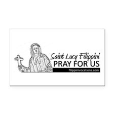 St. Lucy Filippini Rectangle Car Magnet