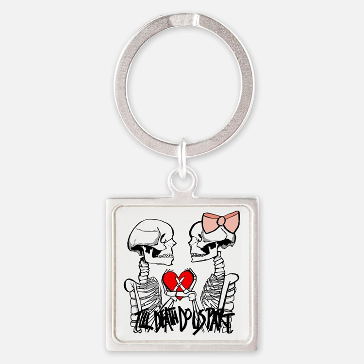 Till Death Square Keychain