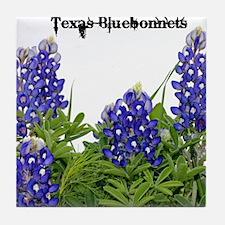 Texas Bluebonnets Tile Coaster