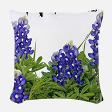 Texas Bluebonnets Woven Throw Pillow