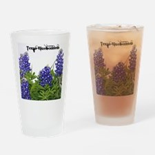 Texas Bluebonnets Drinking Glass