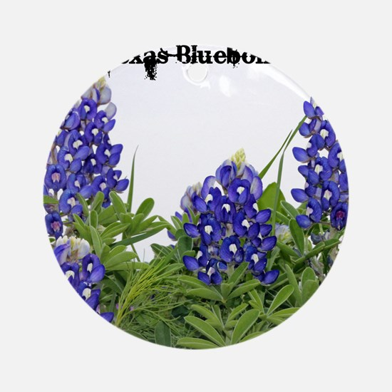 Texas Bluebonnets Round Ornament