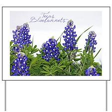 Texas bluebonnet card Yard Sign