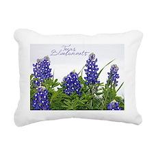 Texas bluebonnet card Rectangular Canvas Pillow