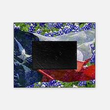 Texas flag bluebonnet card Picture Frame