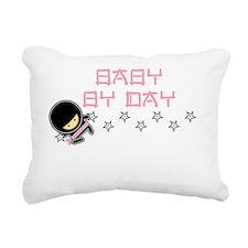 Baby Ninja Pink Rectangular Canvas Pillow