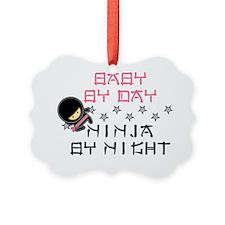 Baby Ninja Pink Ornament