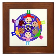 World Peace Framed Tile