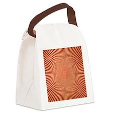 Red Starburst Canvas Lunch Bag