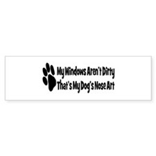Nose art3 Bumper Bumper Sticker