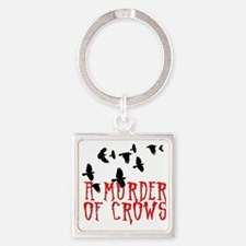 A Murder of Crows Birding T-Shirt Square Keychain