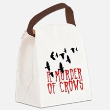A Murder of Crows Birding T-Shirt Canvas Lunch Bag
