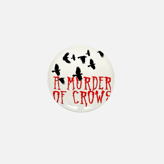 A Murder of Crows Birding T-Shirt Mini Button