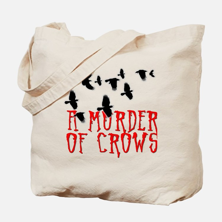 A Murder of Crows Birding T-Shirt Tote Bag