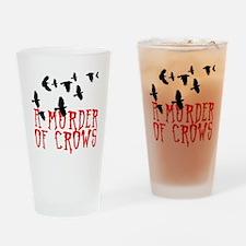 A Murder of Crows Birding T-Shirt Drinking Glass