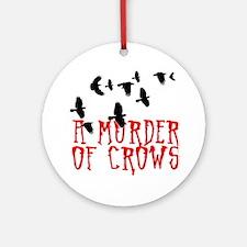 A Murder of Crows Birding T-Shirt Round Ornament