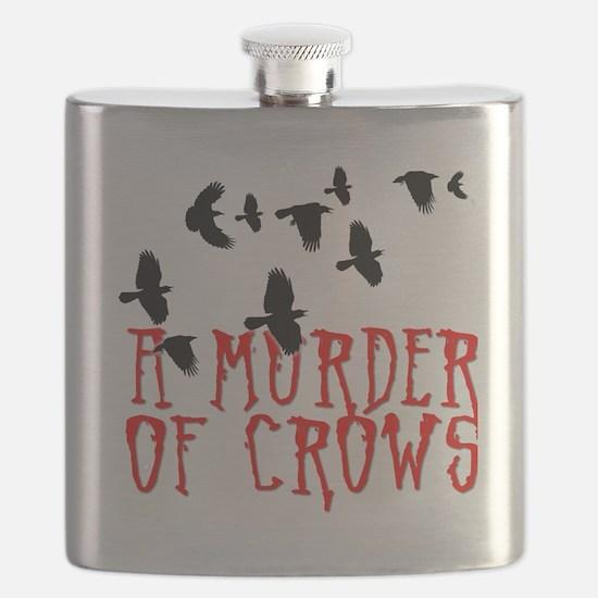 A Murder of Crows Birding T-Shirt Flask