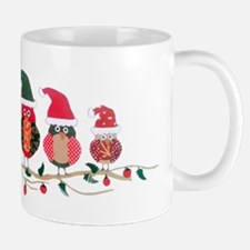 Christmas Blossom Owls Mugs